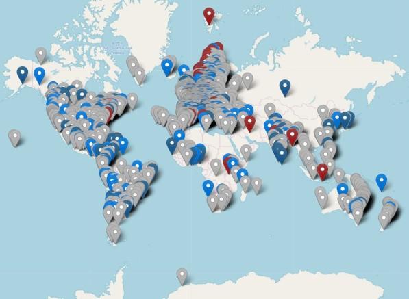 Карта протестов 15 марта